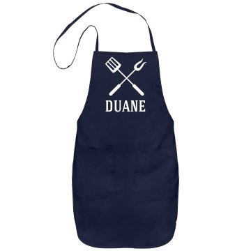 Duane personalized apron
