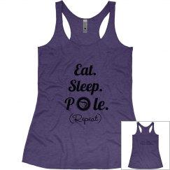 Eat Sleep Pole Purple