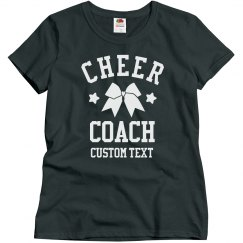 Customizable Cheer Coach Tees