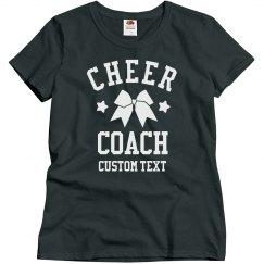 Customizable Cheer Coach Tees