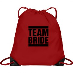 Team Bride Cinch Sack
