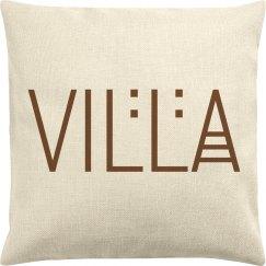 Villa Name Logo Throw Pillow
