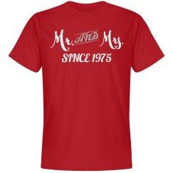 Mr & Mrs since 1975