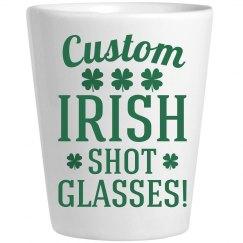 Custom Irish Shot Glasses St Pat