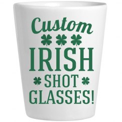Custom Irish Shot Glasses St Pat