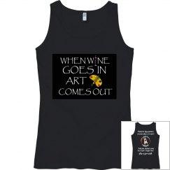 Wine goes in blk tank