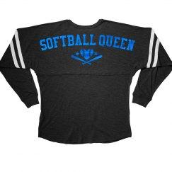 Blue Metallic Softball Queen