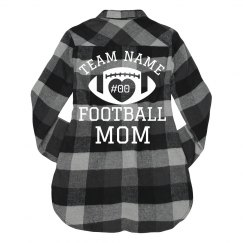 Custom Team Number Trendy Football Mom