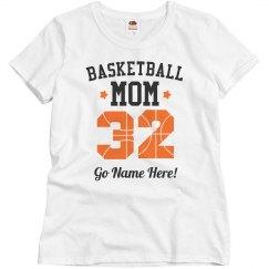 Custom Number Basketball Mom