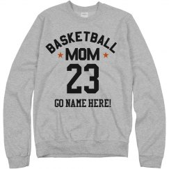 Custom Number Basketball Mom Fan
