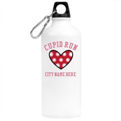 Cupid Run Hearts Custom Water Bottle