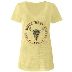 Distressed Vintage Red Rock West Saloon Girls-T