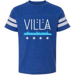 Youth Villa Chicago Skyline-Flag Football T-shirt