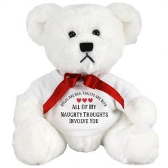 Naughty Thoughts Funny Gift Bear