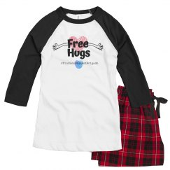 KBB Womens Pajama Set Free Hugs
