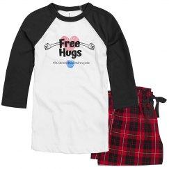 KBB Womens Pajama Set Free Hugs
