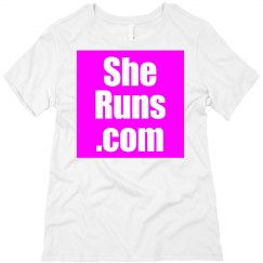 She Runs Relaxed Fit Tee