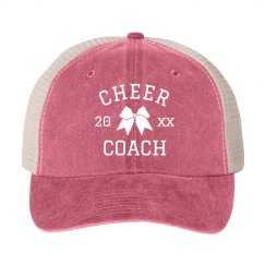 Cheer Coach Custom Year Hat