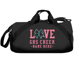 Custom Love Cheer Glitter Bow Bag