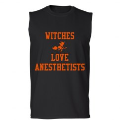 Men's Tank- Witches love anesthetists