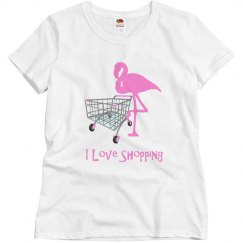 Funny Shopping Pink Flamingo