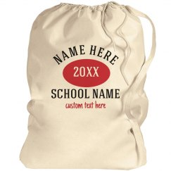Customizable Name & College Laundry Bags