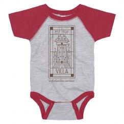 INFANT Original Villa Line Logo Raglan BODYSUIT