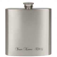"""RDH"" 6 oz Stainless Steel Flask"