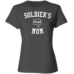 Proud soldier's mom