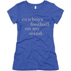 football on my mind. blue