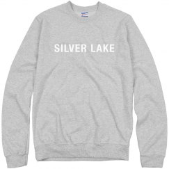 Adult crewneck sweatshirt with SILVER LAKE logo