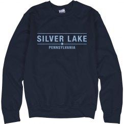 Adult crewneck sweatshirt with SILVER LAKE logo