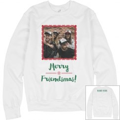 Merry Friendsmas Custom Photo Sweater