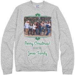 Custom Family Christmas Photo Sweater