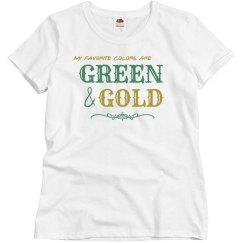Ladies Show Your School Spirit - Green / Gold Shirt