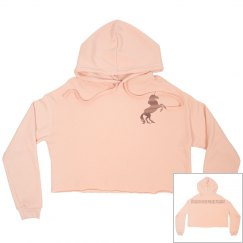 Unicorn crop hoodie peach