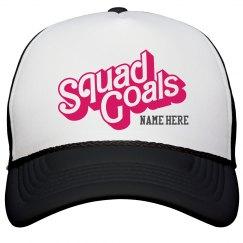 Cheer Custom Squad Goals Hat