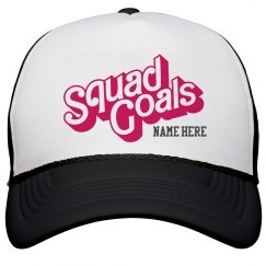 Cheer Custom Squad Goals Hat