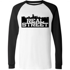 Real Street Long Sleeve Tee- Dark Logo