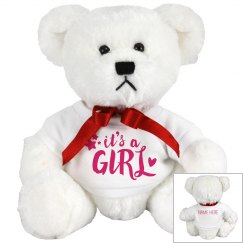 It's a Girl Custom Bear