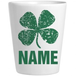 Custom Irish Shot Glass Green
