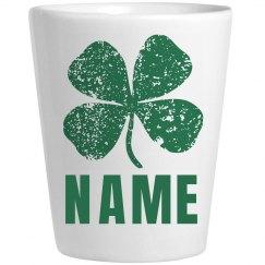 Custom Irish Shot Glass Green