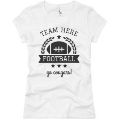 Team & Mascot Football Emblem Custom Tee