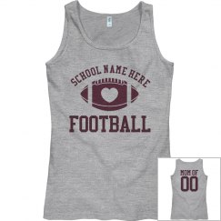Inexpensive Budget Priced Football Mom Tank Tops