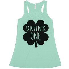Drunk One St Patrick's Green Top
