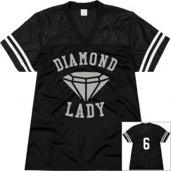 Black Ladies Jersey Shirt