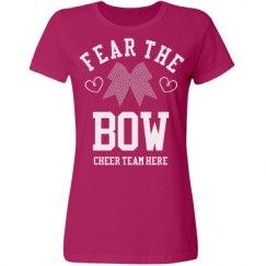 Fear The Rhinestone Cheer Bow