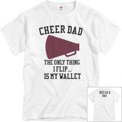 Cheer Dad Wallet Flip