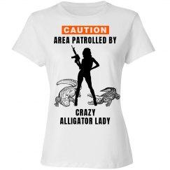 Crazy alligator lady shirt