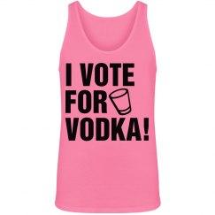 Vote For Vodka in Neon